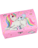 Ylvi and the Minimoomis jewel case Unicorn with baby pink
