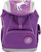 Ylvi and the Minimoomis Schul-Rucksack mit LED Naya lila