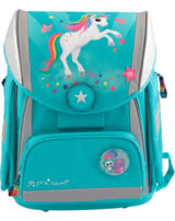 Ylvi and the Minimoomis Schul-Rucksack mit LED Naya türkis