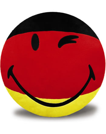 nici cushion smiley black red gold round online at papiton. Black Bedroom Furniture Sets. Home Design Ideas