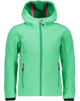 CMP Softshell jacket with hood Girl blueturchese 3A29385N